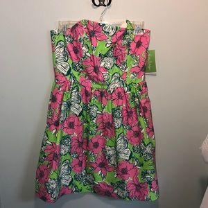 Lilly Pulitzer Strapless Floral Dress